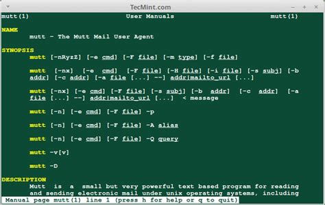 linux yum tutorial pdf 4 best command line email clients for linux