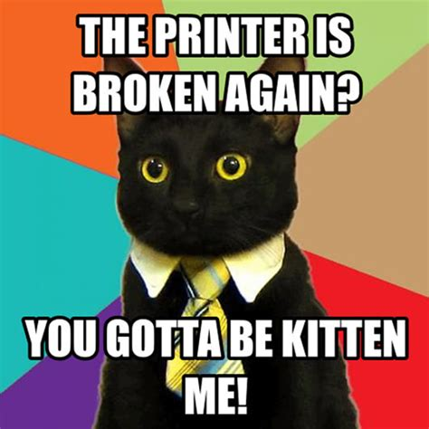 Printer Meme - things you do at uni which would get you fired at work