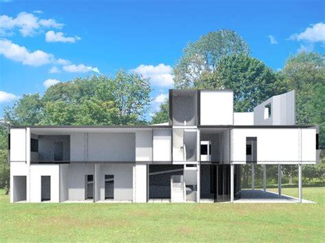 villa savoye section villa savoye 3d max section villa savoye pinterest