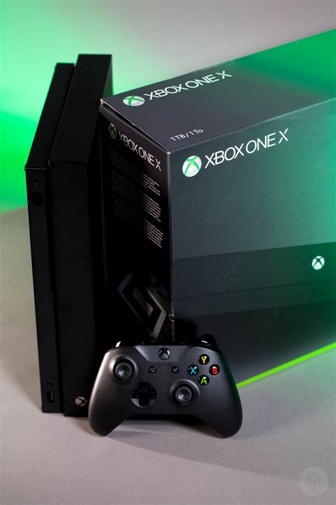 Xbox One X the xbox one x looks unremarkable except for its size