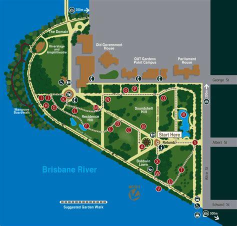 Brisbane Botanic Gardens Map Brisbane City Botanic Gardens Map Brisbane Australia