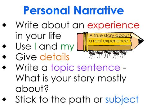 What Is A Personal Narrative Essay by 2nd Grade Smarty Arties Taught By The Groovy Narrative Writing Made Easy