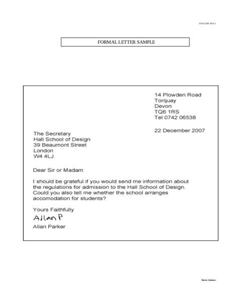 layout of letter slideshare formal letter