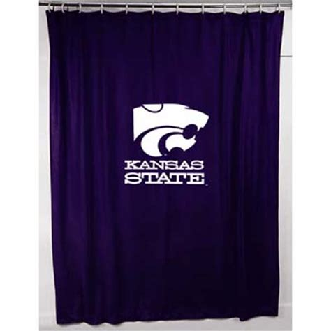 locker room shower curtains kansas state wildcats locker room shower curtain