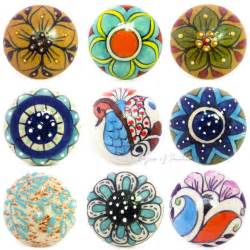 decorative ceramic cabinet cupboard door dresser knobs