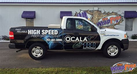 truck ocala fl ocala fiber truck bb graphics the wrap pros