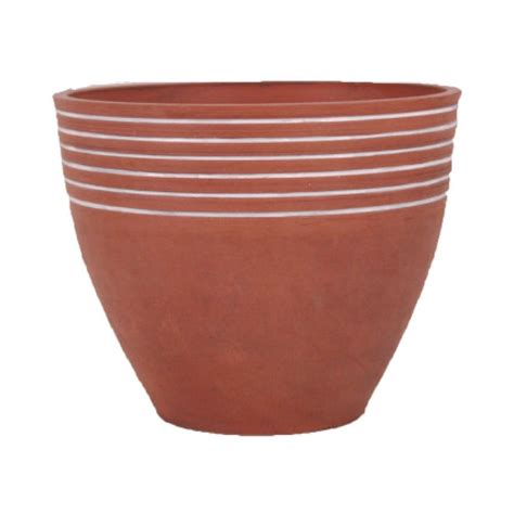 Clay Pots Planters by Shop Arcadia Garden 16 In X 13 In Terra Cotta Mixed