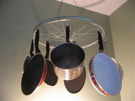 Cool Pot Racks Cool Idea Bicycle Wheel Pot Rack Popsugar Home