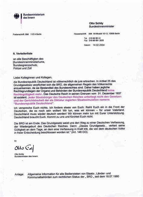 Englischer Briefvorlage Rundschreiben Des Innenministeriums Eine F 228 Lschung Extremnews Die Etwas Anderen Nachrichten