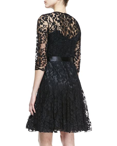rickie freeman for teri jon 34 sleeve lace overlay gown navy rickie freeman for teri jon 3 4 sleeve lace overlay