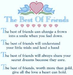 Your best friend is someone who loves you and accepts you for who you