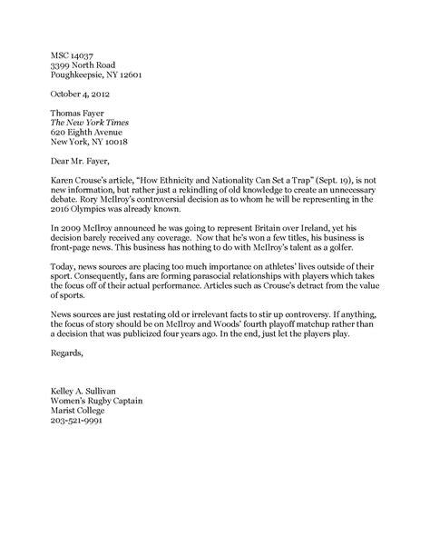 email format new york times letter2editor 1 kelley sullivan s portfolio