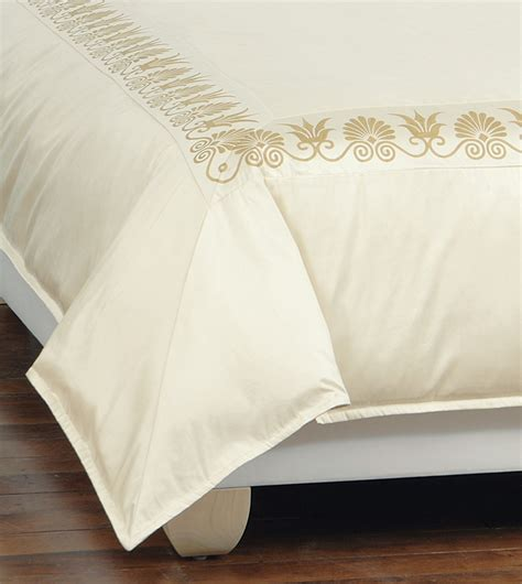 Ivory Duvet Cover Luxury Bedding By Eastern Accents Anthemion Ivory Gold