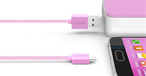 Orico Mdc 10 Mdc10 Strong Micro Usb Data Fast Charging White orico mdc 10 strong braided micro usb charging data