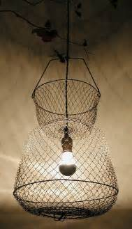 Basket Pendant Light Fish Basket Pendant Light 75 00 Via Etsy For The Home Pendant Lights Fish