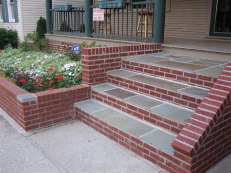 brick  stone steps  front door stairs brick steps