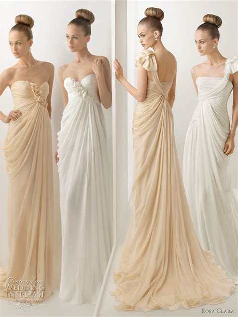 beige color dress rosa clara 2012 wedding dresses color bridal gowns and
