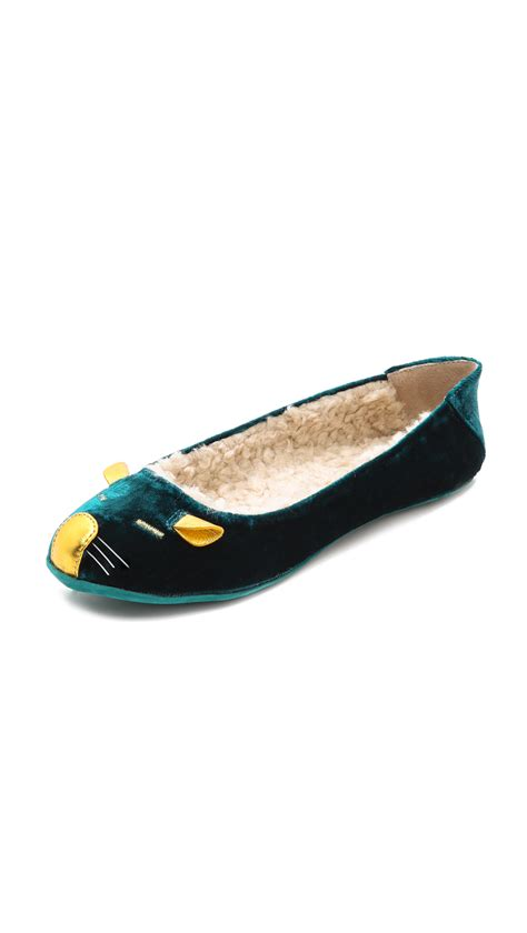 sleeping slippers marc by marc sleeping mouse slippers in green teal