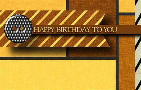 Happy Birthday Masculine Stripes. Free Birthday for Him