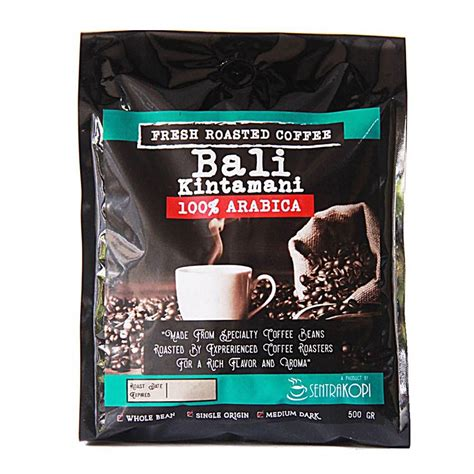 Kopi Bali Sepang Arabica Sentra Kopi Bali Kintamani Arabica Whole Bean Coffee 500