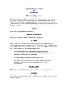 nonprofit articles of incorporation template other template category page 849 sawyoo