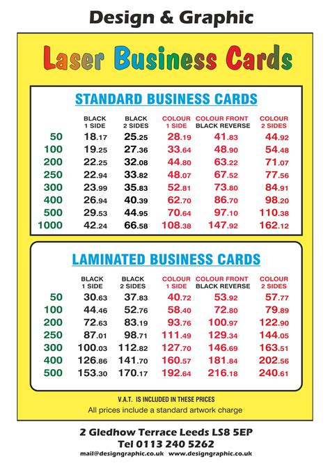 Price Card Template by Business Card With Price List Image Collections Card