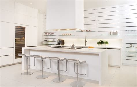 Modern Kitchen With White Cabinets 30 Modern White Kitchens That Exemplify Refinement