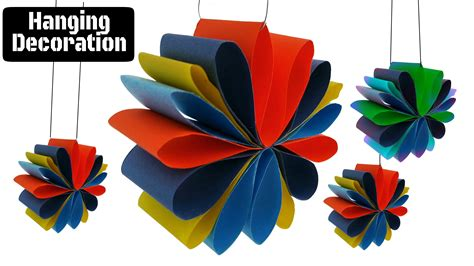 Diwali Home Decoration Items by Craft Design 3 Hanging Paper Decoration For Diwali