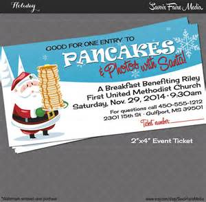 Pancake Breakfast Ticket Template by Pancake Breakfast With Santa Event Ticket Photos