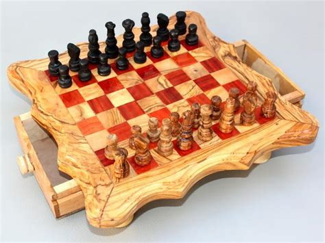 fruit 3 2 chess handcarved chess board wooden chess set olive wood