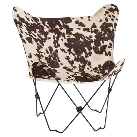 Pottery Barn Cowhide Stool by Junk Faux Cowhide Butterfly Chair Pbteen