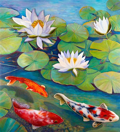 koi fish pond painting