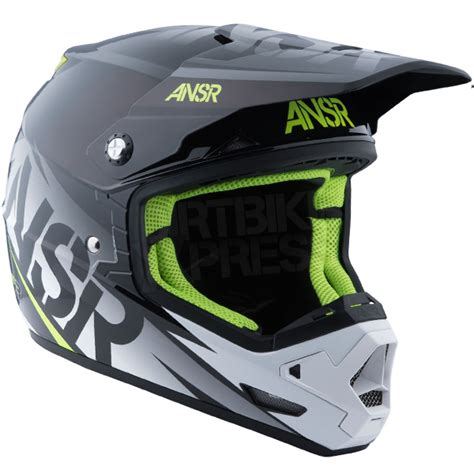 answer motocross helmets 2016 answer evolve 3 0 helmet black white dirtbikexpress