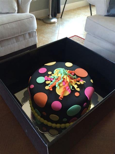 Tie Dye Black Light Glow In The Dark Cake Cakes