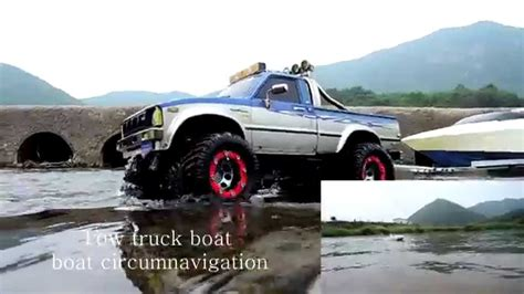 rc trucks with boats realistic rc experience tow truck boat boat