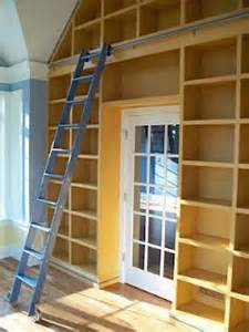 Bookshelves With Rolling Ladder Building Plans For Bookcases Woodworking Projects Plans