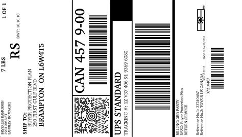 printable shipping label ups print ups return label pictures to pin on pinterest