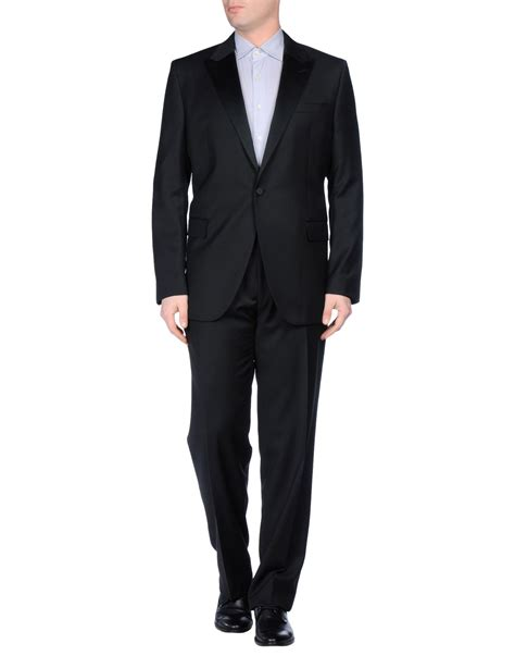Valentino Suit valentino suit in black for lyst