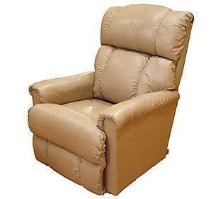 la z boy pinnacle recliner la z boy pinnacle all leather rocker recliner qvc com