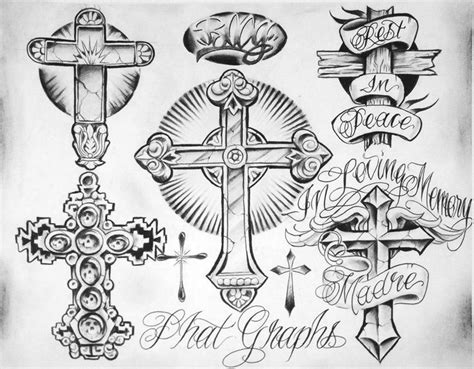 cross tattoo flash art image result for chicano style ricos place