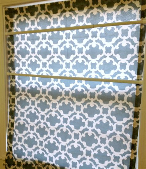 roman shade on curtain rod no sew faux roman shade here comes the sun