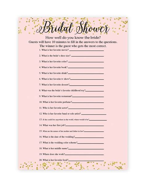 best 25 printable bridal shower games ideas on pinterest