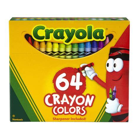 crayola regular size crayon 64pk zerbee