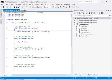 tutorial asp net web forms asp net 4 tutorials how to create web api in asp net web