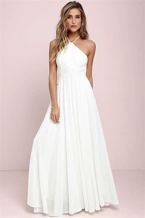 Drss 962 Flowy Roses Maxidress stunning ivory dress maxi dress halter dress lace