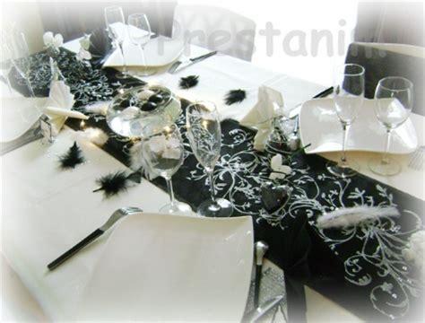 Decoration De Table Noir Et Blanc by Deco Mariage Noir Et Blanc Le Mariage