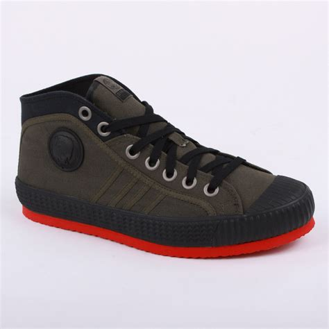 diesel yuk anniversary mens laced canvas mid trainers