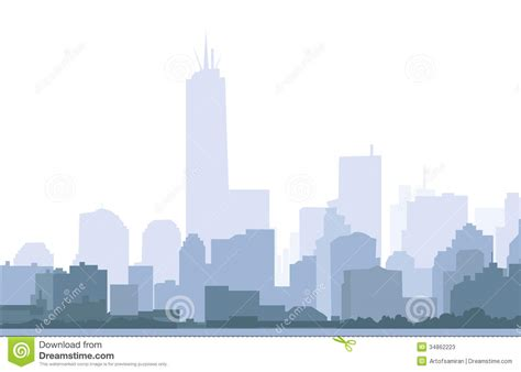 york skyline  morning vector stock  image