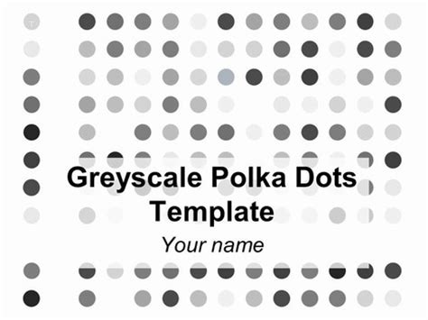 Greyscale Polka Dots Background Polka Dot Powerpoint Template