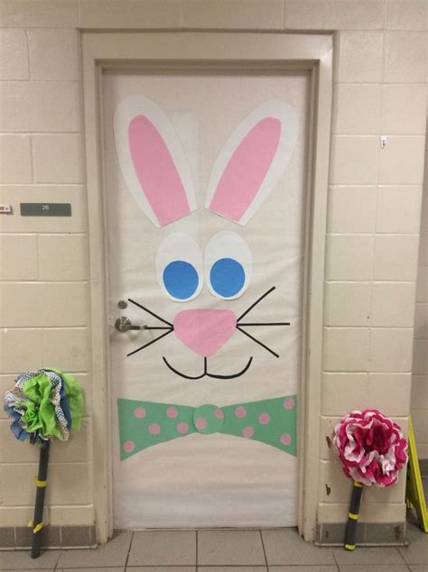 easter door decorations bunny door doors pinterest bunny doors and easter
